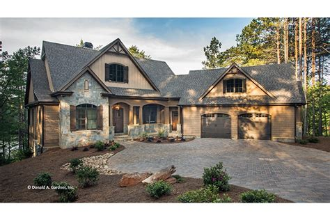 house plans ranch with walkout basement craftsman style ranch with walkout basement hwbdo77120