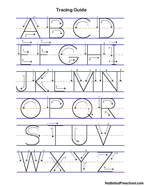 manuscript uppercase and lowercase tracing guide nuttin