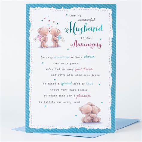 how to make a anniversary card anniversary card for my wonderful husband only 99p