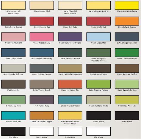 spray paint colors valspar spray paint color chart