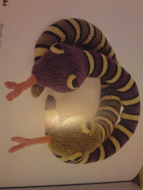 how to knit a snake knitted snake craftgarden tropical garden