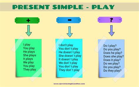 preguntas en presente simple con verbos irregulares conjugaci 243 n verbo quot play quot en presente simple ejercicios