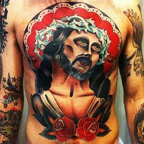 jesus messiah traditional religious tattoo best tattoo