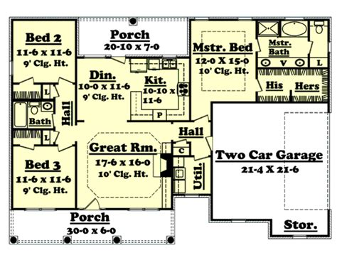 1500 sq foot house plans southern style house plan 3 beds 2 00 baths 1500 sq ft
