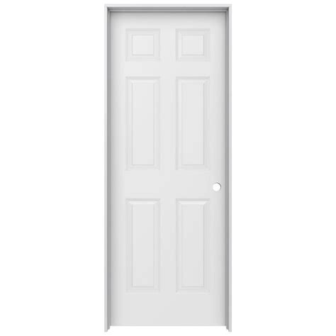 home depot white interior doors jeld wen 30 in x 80 in woodgrain 6 panel solid