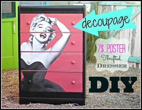 decoupage furniture diy diy decoupage dresser 183 how to make a dressing table 183