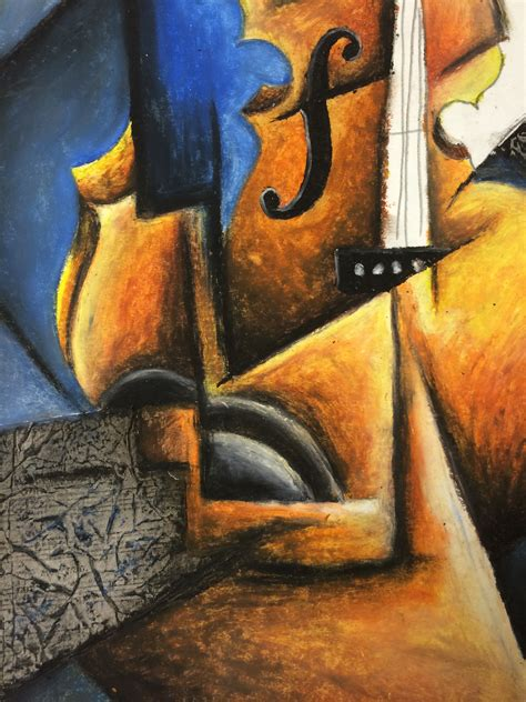 picasso paintings with musical instruments cubism instrument pastel and collage lesson
