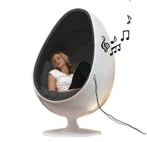 Chair With Speakers egg pod chair with speakers