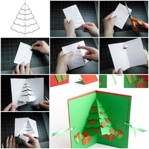 card step by step how to make tree pop up card step by step diy