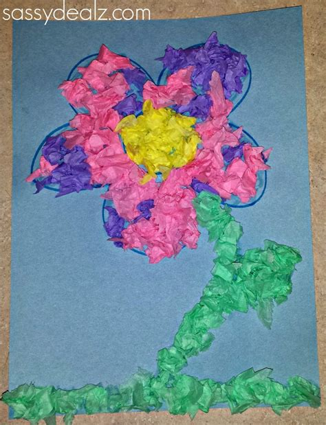 cool tissue paper crafts easy tissue paper flower craft for crafty morning