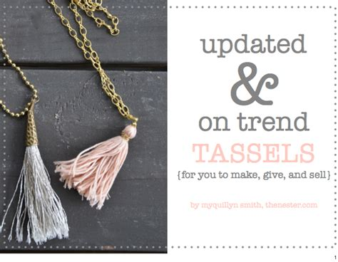 what to make with how to make tassels