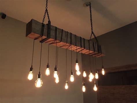 modern rustic light fixtures custom made reclaimed barn beam chandelier light fixture