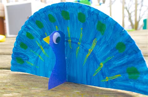 peacock crafts for peacock animal paper plate craft for with book choices