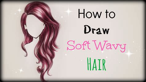 how to draw curly hair drawing tutorial how to draw and color soft wavy hair