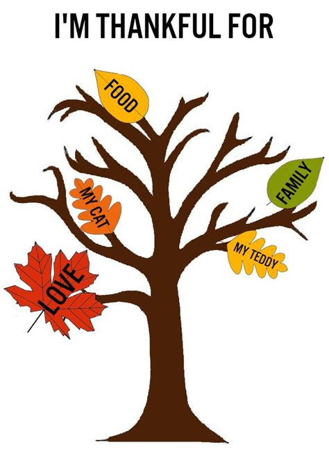 thankful tree craft for best photos of thanksgiving tree of thanks template