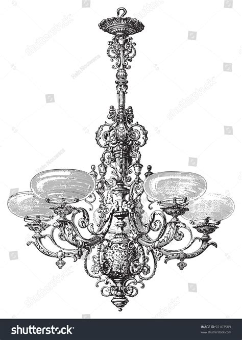 italian chandelier illustration chandelier vintage illustration from meyers