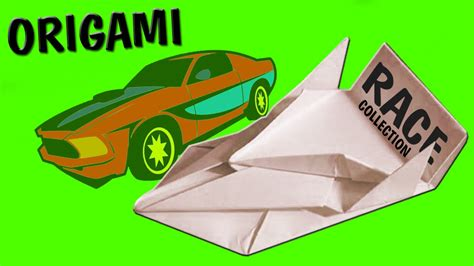 how to make a origami car racing car simple origami for handmade