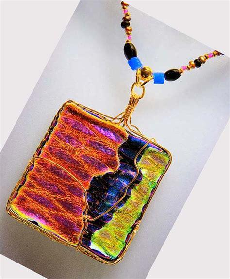 dichroic jewelry dichroic glass pendants