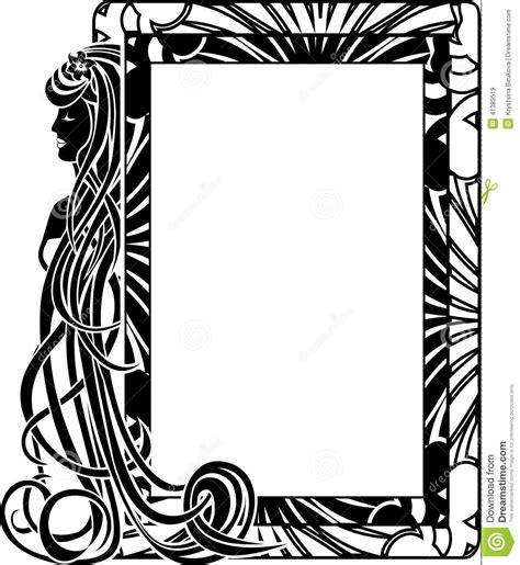 cadre ornemental dans le style nouveau illustration de vecteur image 41383519