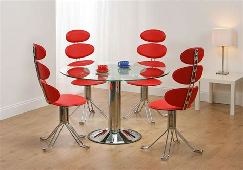 unique dining table sets venice revolving glass dining table 4 chairs truly