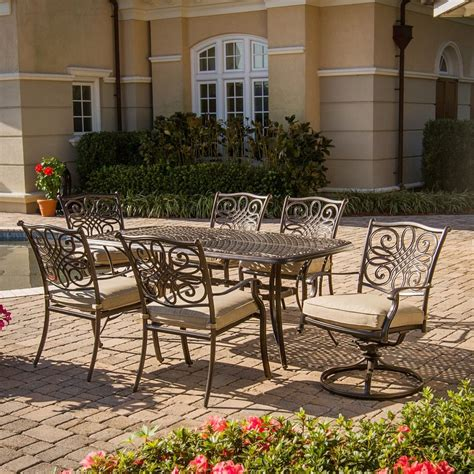 aluminium patio furniture sets shop hanover outdoor furniture traditions 7 bronze