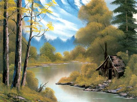 bob ross painting human pin bob ross winter paintings image search results on