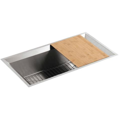kohler stainless kitchen sink kohler poise undermount stainless steel 33 in single