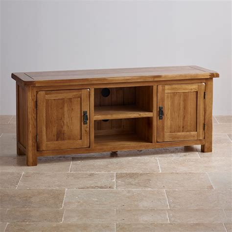 solid oak tv cabinet original rustic wide tv cabinet in solid oak oak
