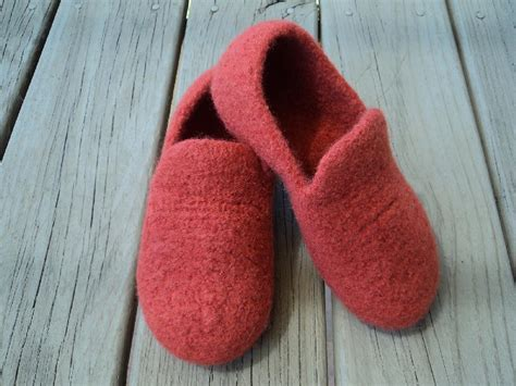 Loafer Slippers Felted Knit For Knitting Pattern By