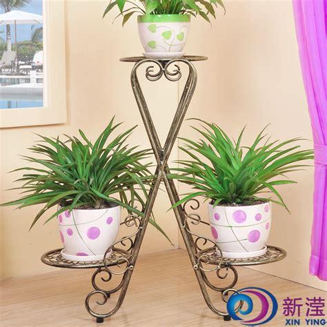 wrought iron floor flower pot holder indoor balcony french