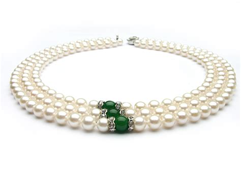 pearls jewelry strand white akoya pearl necklace 7 7 5mm aa aaa