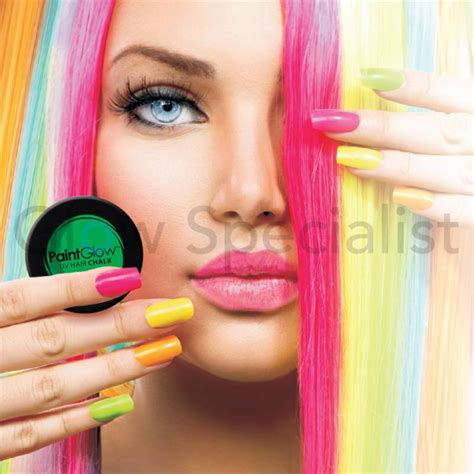 chalk paint your hair paintglow neon hair chalk koopt u bij glow specialist