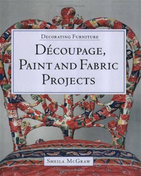 decoupage fabric on wood furniture object moved
