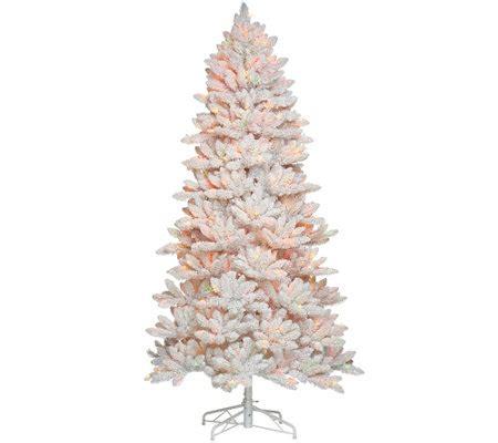 qvc bethlehem lights trees bethlehem lights 7 5 hudson flocked tree page