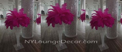 feather table centerpieces ny lounge decor feather table centerpieces