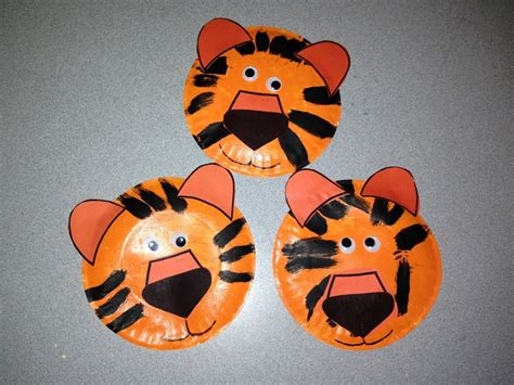 tiger paper plate craft tiger paper plate craft www imgkid the image kid