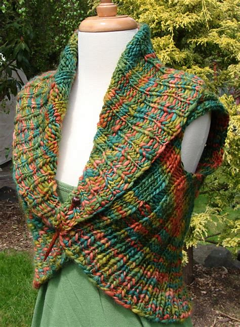 collar scarf knitting pattern cozy and comfortable shawl collar vest knitting pattern