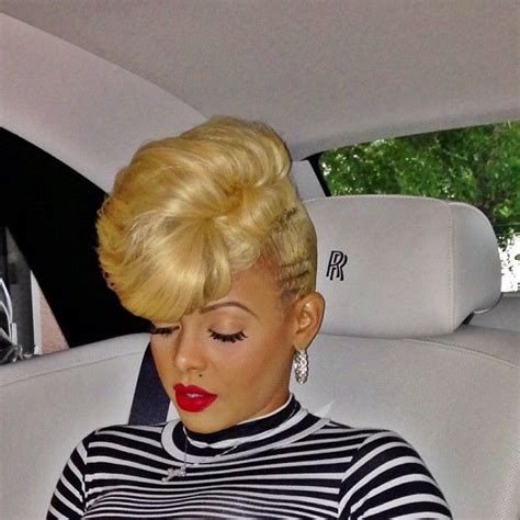 hair pieces to wear with fo hawk hairstyle keyshia kaoir wearing redroses glitzstick by ka oir