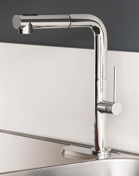 designer faucets kitchen chrome modern kitchen faucet with pull out dual shower