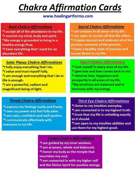 make your own affirmation cards chakra affirmations chakra tone diary
