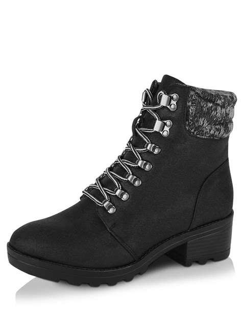 knit top boots buy new look knit top hiker boots for s