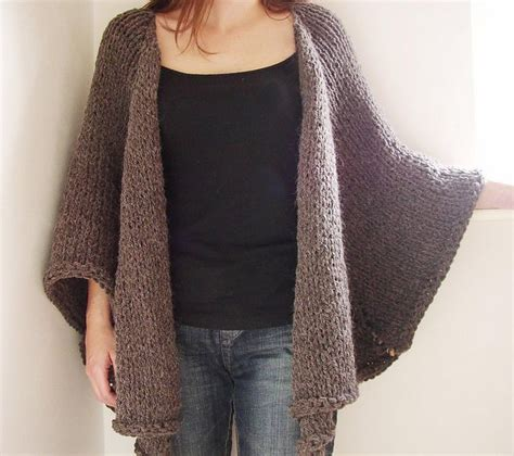 knitted cape alpaca cape jacket knit one