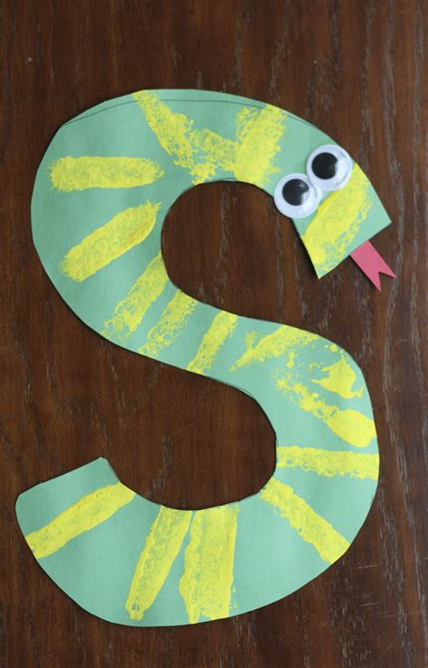 snake crafts for s is for snake alphabet craft i can teach my child