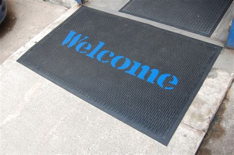 custom large rubber st gallery outdoor matting custom bespoke coir mats