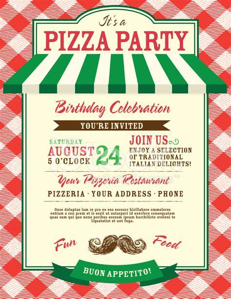 Garden Delight Pasta by Pizza I Urodziny Zaproszenie Strony Szablon Zdjęcia Ze