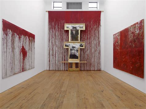 acrylic painting exhibition two exhibitions showcase the bloody relics of hermann
