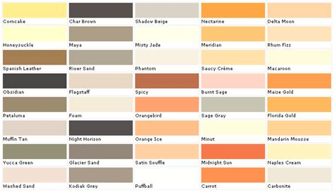 home depot paint names exterior paint color chart house paint color chart