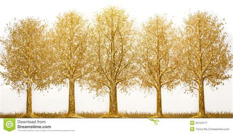 gold and tree gold tree stock photo image 55124177