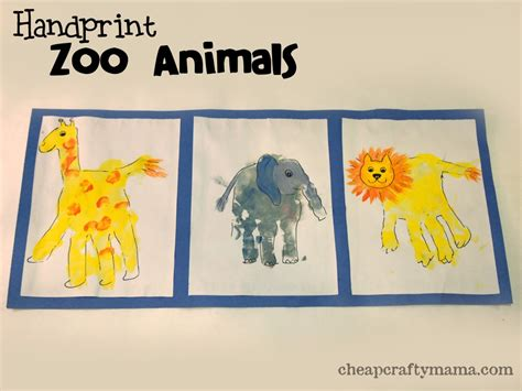zoo crafts for handprint zoo animal craft adorable zoos animal and wraps
