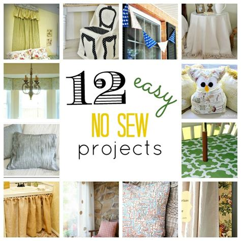 no sew craft projects can t sew no worries no sew up at the picket fence